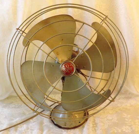 Vintage Ge Fan : Antique ge three speed oscillating fan motor runs great