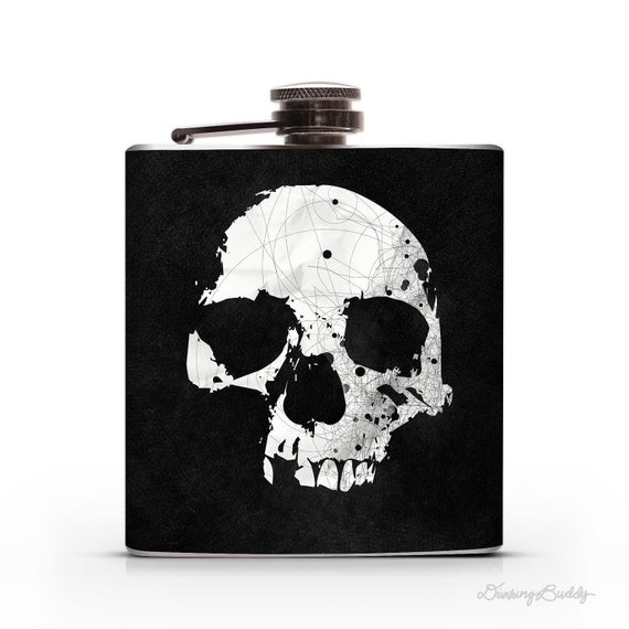 Poison Skull - 6oz Hip Flask
