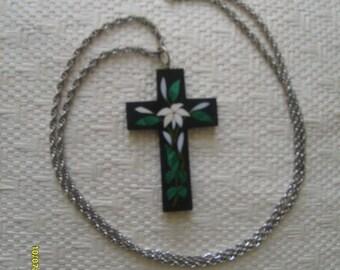 Antique Onyx Mosaic Cross