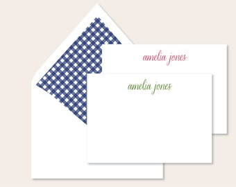 Personalized Stationery - Crazy for Gingham