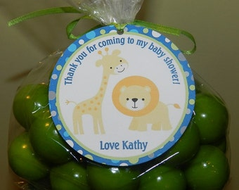 Safari - Safari Baby Shower favor tags (set of 24) Safari Baby Shower