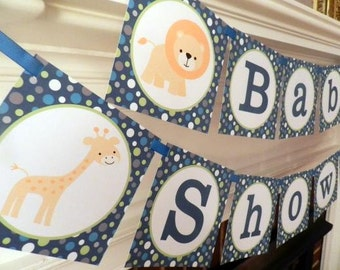 Safari Baby Shower - Baby Shower Banner- Safari Baby Shower Decorations- Safari Baby Shower