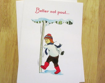 """Sets of """"Better Not Pout"""" Christmas Cards"""