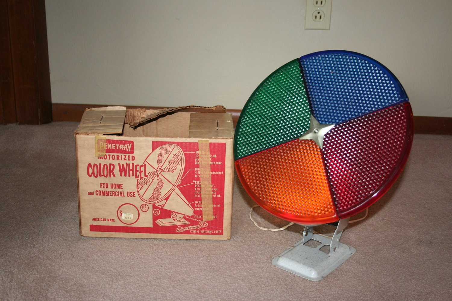 Vintage Penetray Motorized Color Wheel: Christmas Tree Light