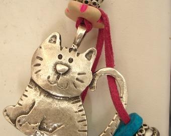 Greek gifts cat lovers keyring Cute greek cat keychain