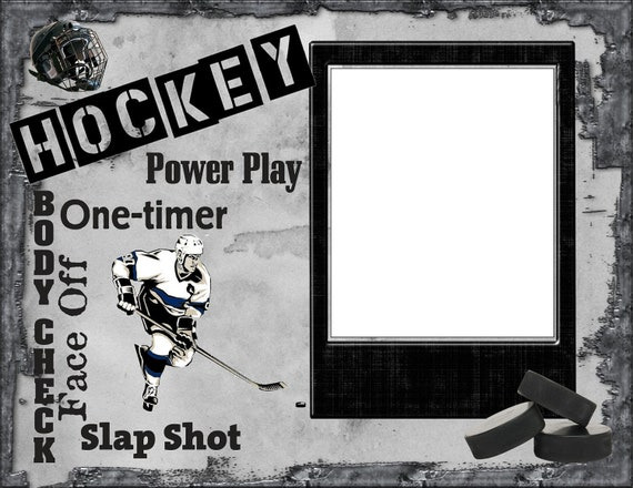 Unframed 8x10 Hockey Wordart Picture Mat