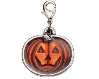 Halloween Pumpkin Pet Tag - Trick or Treat