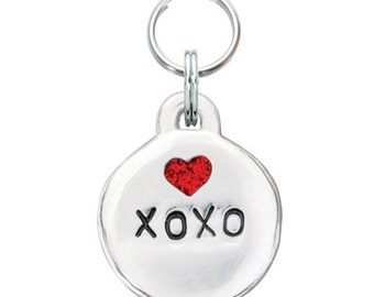 Pewter Heart Pet Tag - XOXO