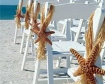 Beach Wedding Sugar Starfish Chair Hanger Aisle Decoration