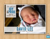 Customizable Photo Baby Announcement