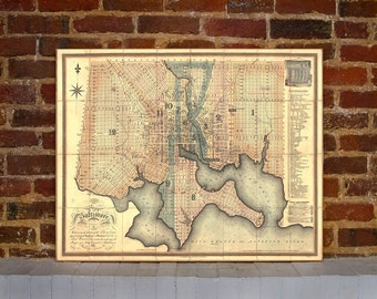 1822 Baltimore Vintage Map Canvas Print