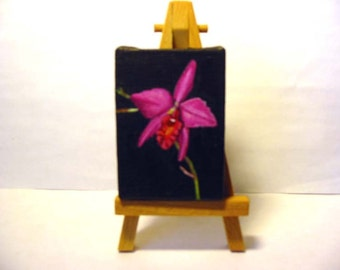 sophrolaelio cattleya orchid painted on canvas
