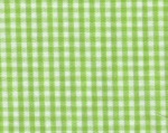 """HALF YARD 1/16"""" Bright LIME Fabric Finders Gingham"""