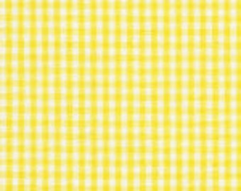 "HALF YARD 1/16"" YELLOW Fabric Finders Gingham"