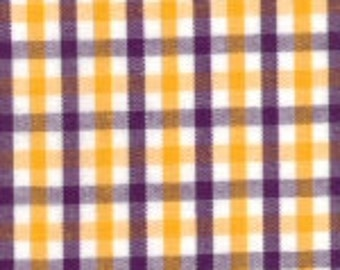 HALF YARD - Purple and Yellow Fabric Finders Tri-check
