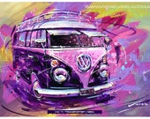 "VW T1 ""Transporter"" (1950) - Fine art print by Rafael Varela - SpeedAndColors"