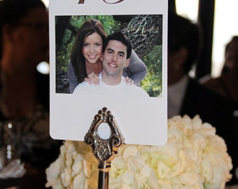 Photo Table Numbers - Custom Double sided, tripple card