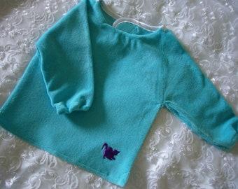 Turquoise blue bib