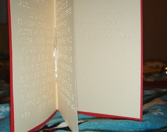 Custom Message Braille Greeting Card