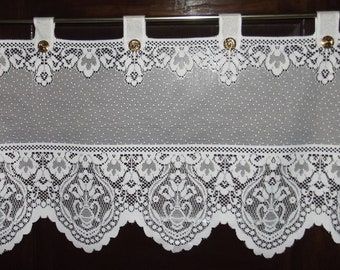 vintage white lace curtain