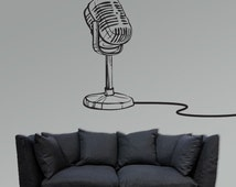 Microphone Vinyl Decal