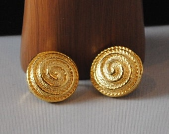 Vintage Gold Plated Earrings 1960s