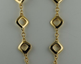 """Vintage Trifari Mothers Day Trifari Vintage 36"""" Heavy Gold Plated Chain"""