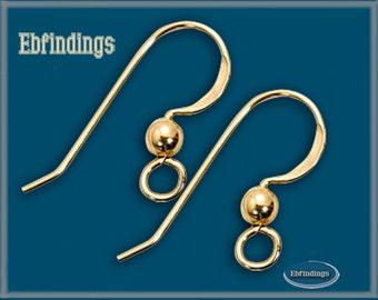 50 pcs 14K Gold Filled Earring Finding Ear Wire Hook EB001229pkg