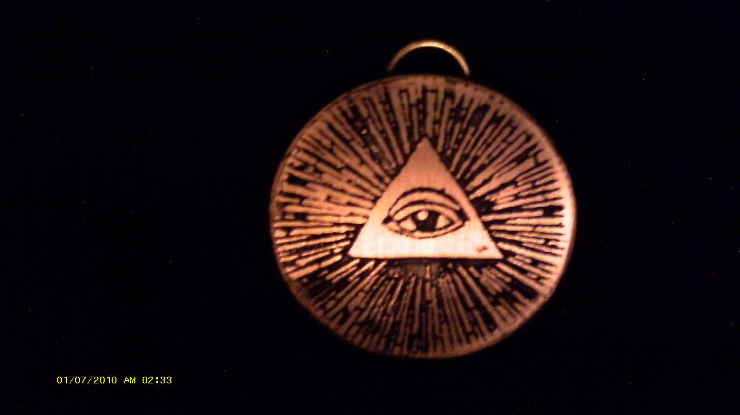 items similar to illuminati jewelry pendant all seeing