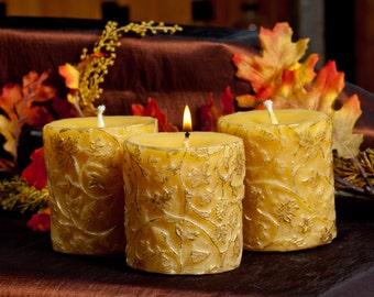 Baroque Pillar Beeswax Candle