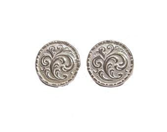 Sterling Silver Rösemaling Earrings