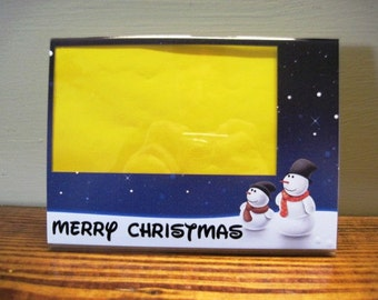 Christmas Picture Frame - Snowmen