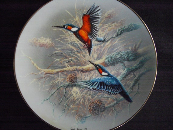 Rosenthal collector's plates 1992 Gerhard Bluhm jewels of the bird world plate no. 598A