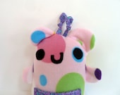 Bubblegum Pink Monster Pocket Plush Animal Cute Kawaii Baby Toy - SquirrelNap