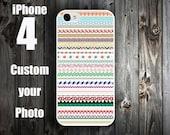 Cute iPhone 4S Case , Custom iPhone 4 Case Cover , Unique iPhone 5 Case  -- Aztec Tribal Pattern