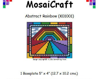 MosaiCraft Pixel Craft Mosaic Art Kit 'Abstract Rainbow' (Like Mini Mosaic and Paint by Numbers)
