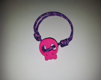 Beautiful pink skull bracelet