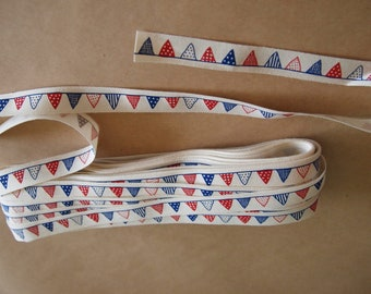 1 Yard of 1.2cm Festival Flag Cotton Tape