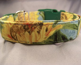 Van Gogh Sunflowers Dog Collar