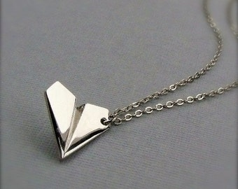 One Direction Harry Styles paper airplane necklace. Free Holiday gift wrap. Free cuff bracelet with every 25.00 purchase