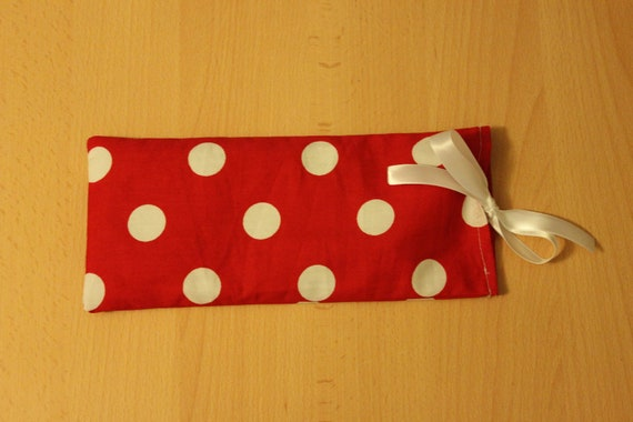 Relaxing Flax Seed and Lavender Eye Pillow - Valentine's Day Gift