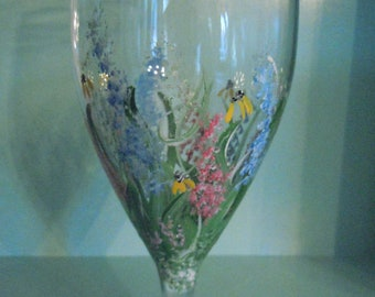 Hand painted Iced Tea Glass