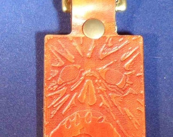Book of the Dead leather geeky key fob