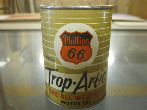 Vintage Phillips 66 Trop Artic Motor Oil Can Bank