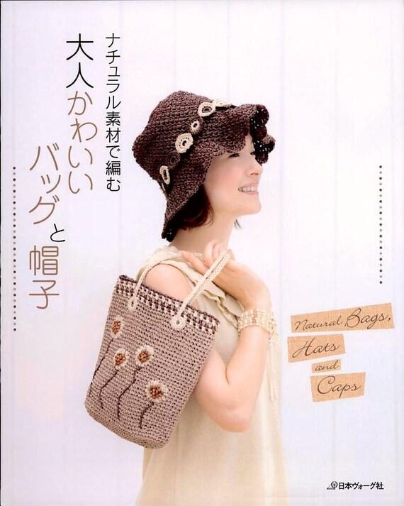 Natural bolsas sombreros & Caps 6516 Crochet japones PDF | Etsy