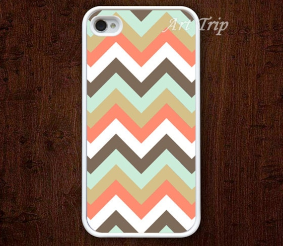 chevron iPhone 4 Case, iphone 4s case -- orange chevron iPhone 4 Case, geometric graphic iphone 4 case