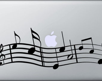 Music Decal for Macbooks and ipads or anything