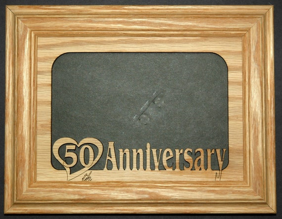 50th Anniversary Wedding Picture Frame 5x7