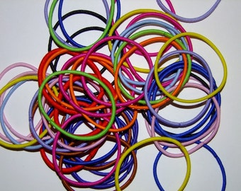 Elastic Hair Ties - Mixed Colours - Pack of 10