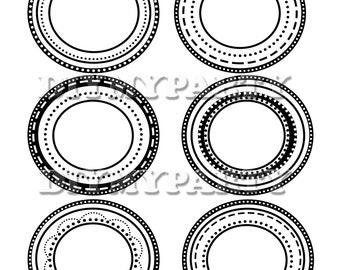 Printable Round Clip Art Labels Digital Frames Labels printable label party cards party labels printable cards party decor DIY 169